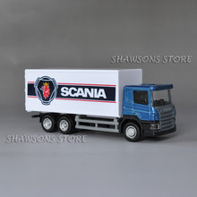 1: 64 Diecast Model Kendaraan Mainan Scania P360 Truk Kontainer Model Replika(China)