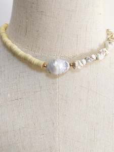 Choker Necklaces Beaded Wedding-Jewelry Natural-Stone Freshwater Pearl Bohemian Fashion