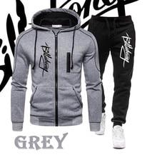 Chándales de moda para Hombre, chaquetas y pantalones largos con cremallera, conjuntos de dos piezas, ropa deportiva masculina