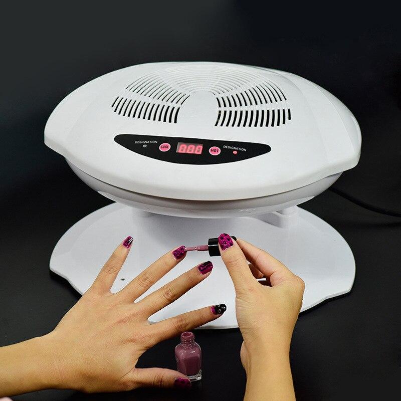 Lampe professionnelle pour sèche-ongles Air chaud froid pied main ongles Polis ventilateur de séchage outil de manucure