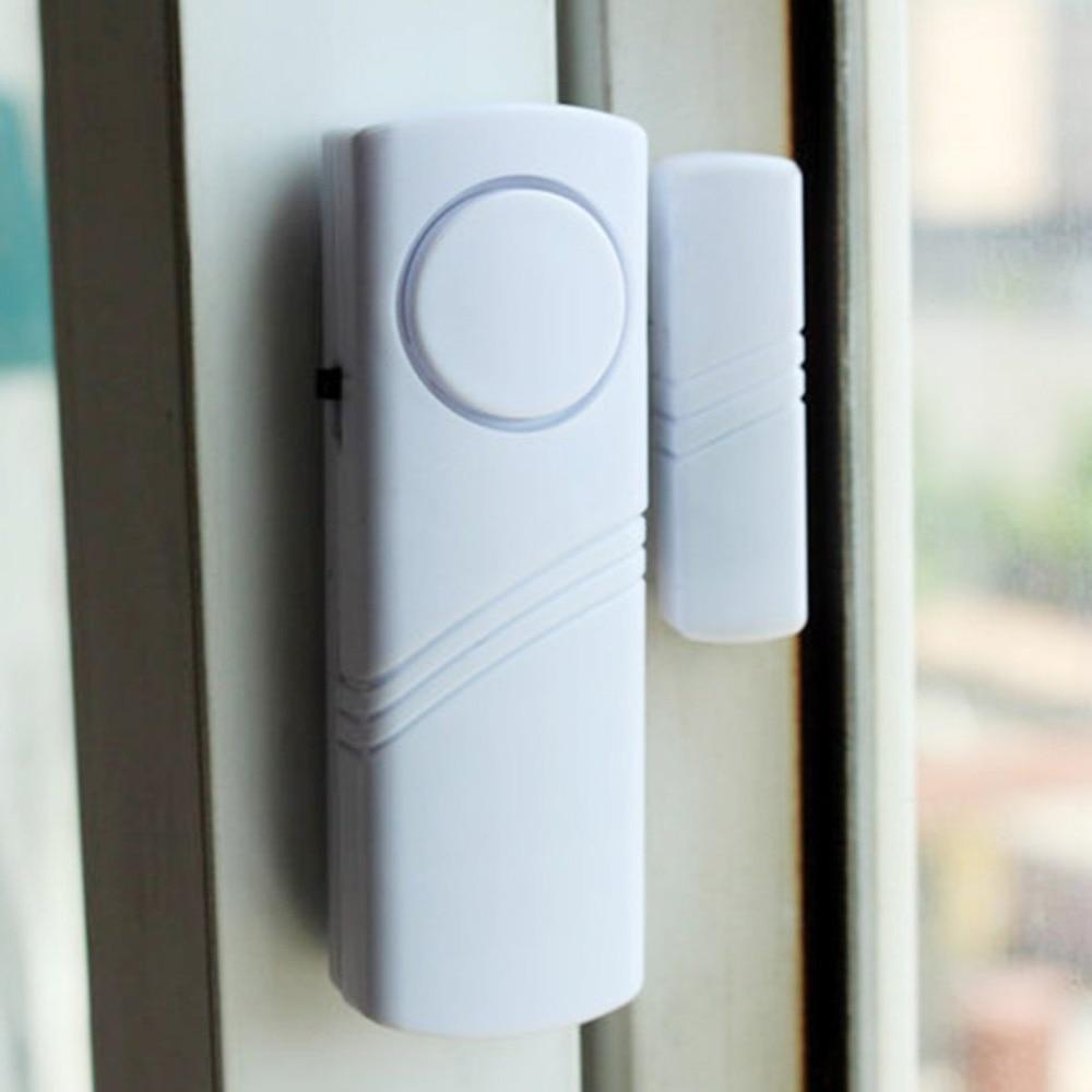 Беспроводная сигнализация с магнитным датчиком, охранная сигнализация для дома, дверей, окон, беспроводная удлиненная система, белый цвет, ...