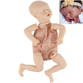 17inch bebe Reborn Realistic Newborn Fabric Body Doll Real Lifelike Twins Reborn Baby Soft Hands Unpainted Unfinished Doll Parts 17 inch lifelike reborn lovely baby doll laugh soft realistic reborn baby playing toys for kids christmas gifts bonecas