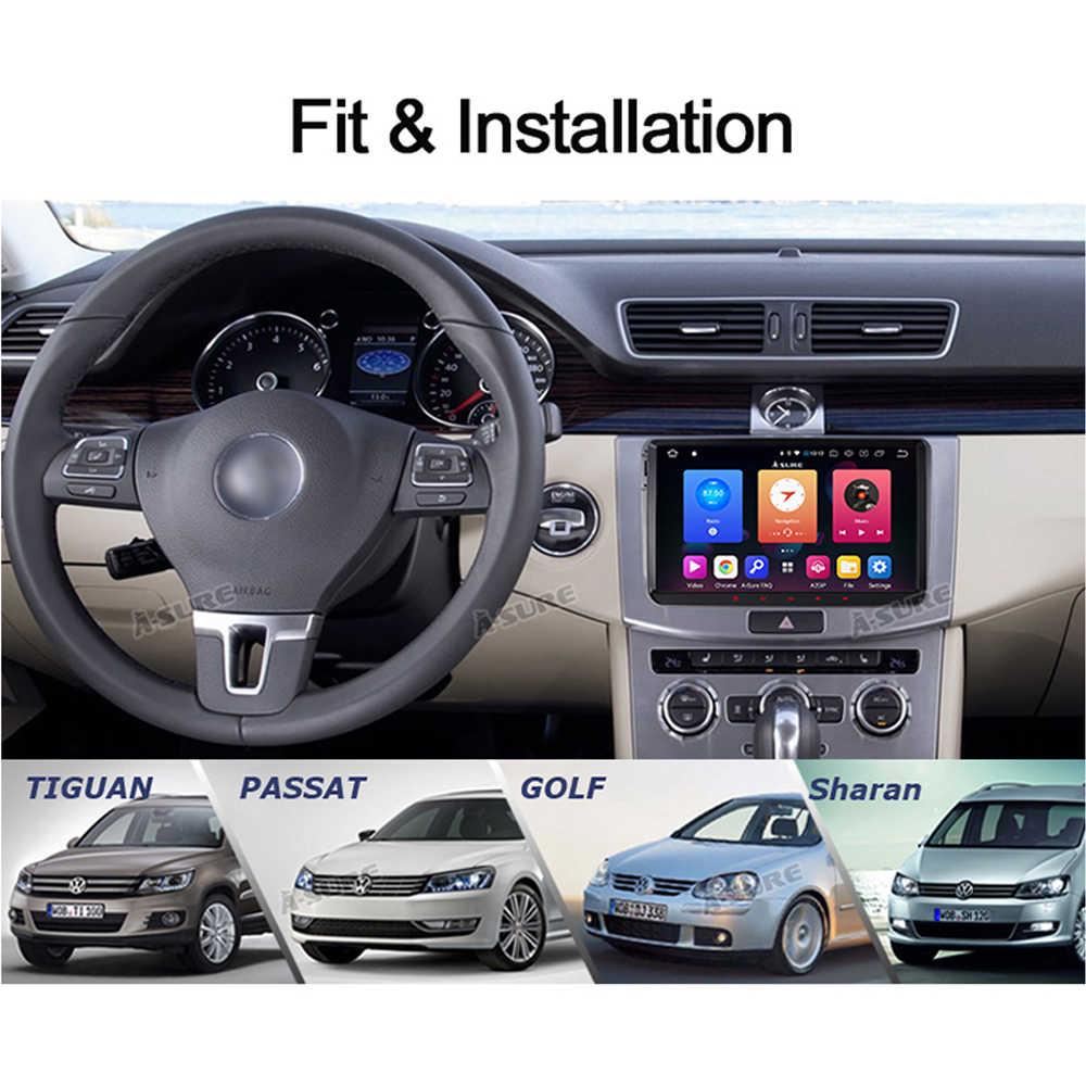 A-Sure 2 Din 9 дюймов Android 9,0 Автомагнитола gps для Volkswagen VW Passat b6 Tiguan Polo Golf 5 6 Caddy Transporter T5 Touran Skoda