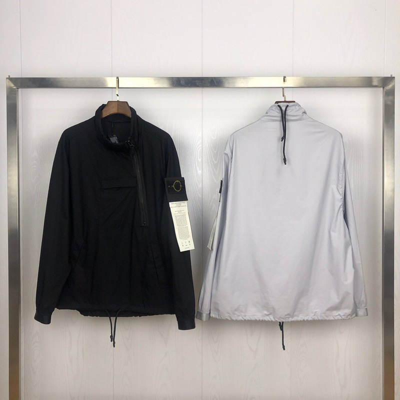 2020 Best Version 1:1 Compass Logo Printed SI Women Men Windbreaker Jacket Hiphop Streetwear Men Casual Jacket Coat