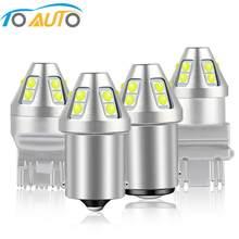 1 шт. P21W 1156 BA15S BAU15S PY21W светодиодные стоп-сигналы T20 7440 7443 W21W W21/5W Автомобильная сигнальная лампа T25 3157 P27W 10SMD 3030 чипы