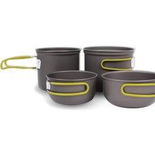 Открытый Складной Кемпинг посуда легкие антипригарные кастрюли изолированный горшок набор с сетчатой сумкой