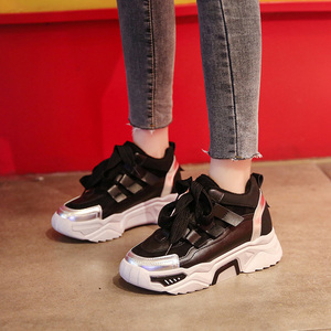 Image 4 - النساء حذاء كاجوال شبكة أحذية رياضية للنساء منصة الشقق أحذية مكتنزة ماركة فاخرة تنفس مريحة الإناث الأحذية Mujer