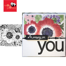 Anemone & Alium Metal Cutting Dies and Stamps for Scrapbooking/Photo Album Decorative Embossing Template Crafts(China)