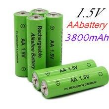 2020 lote nova 3800 mah bateria recarregável aa 1.5 v. Nova alcalinas bateria para brinquedo, diodo emissor de luz recarregável