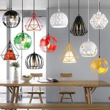 Lámpara colgante de jaula Industrial moderna lámpara colgante de tierra lámpara colgante de hierro Vintage lámpara colgante de diamante Pirámide de pájaro Loft lámpara Comedor Cocina