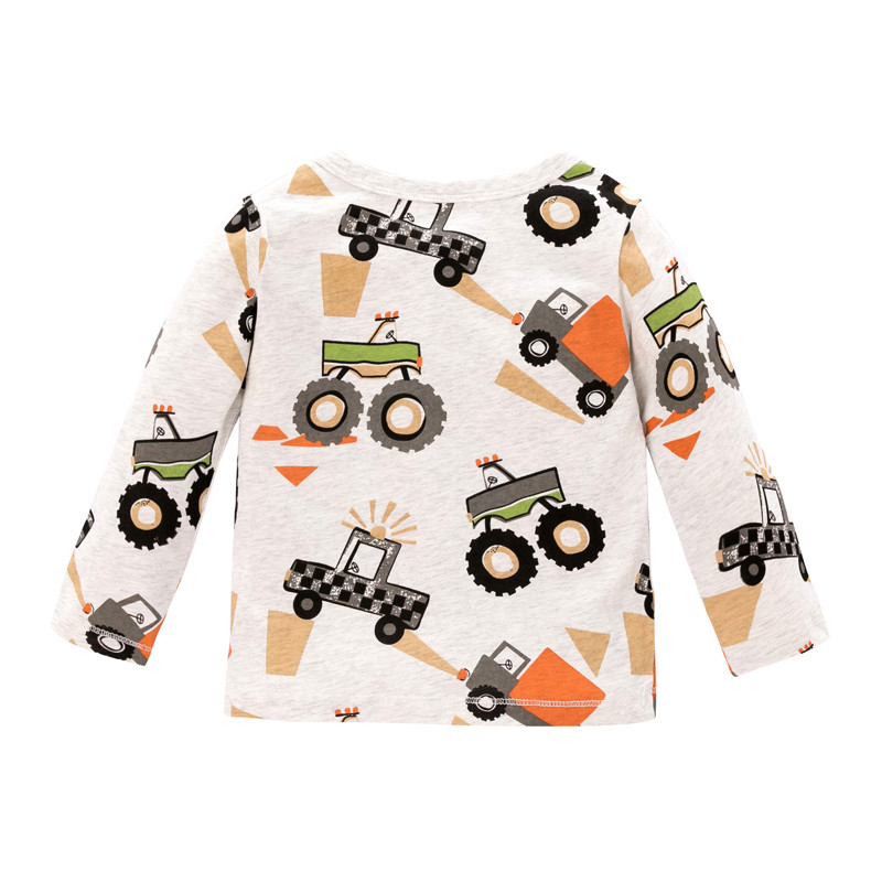 Hd6bd4bb27af44def9e65f7d7be03df66J Jumping meters Baby Dinosaurs T shirts Cotton Girls Animals Clothing for Autumn Spring Children's Tees s