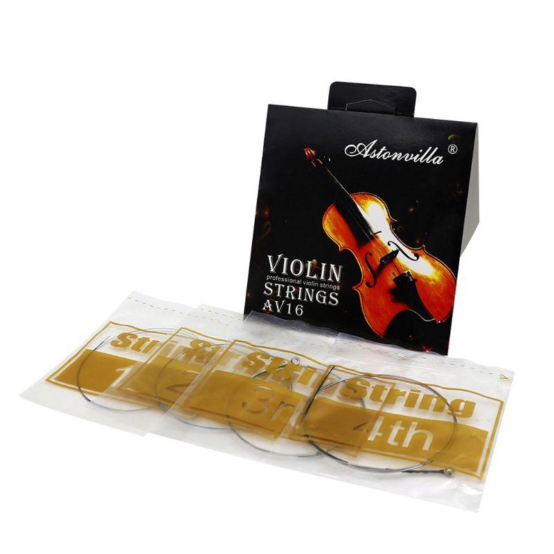 AV16 Professional Violin Strings (E-A-D-G) Cupronickel String For 4/4 3/4 1/2 1/4 Violin