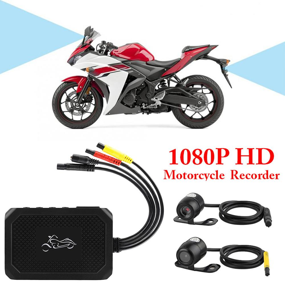 Motor Dashcam Motorcycle DVR Recorder Camera HD 1080P Sport Camera Dash Cam With Specialized Dual-track Front Rear Recorder