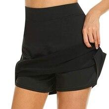 Женские спортивные шорты для активного отдыха, быстросохнущая юбка для бега и тенниса с шортами, легкие спортивные шорты для тренировок, теннисная юбка-шорты