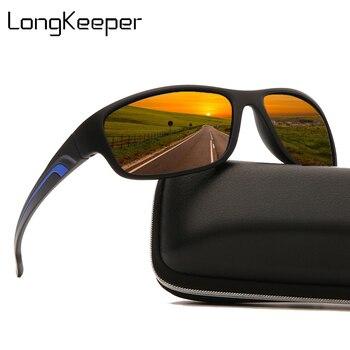 Brand Designer Polarized Sunglasses Men 2020 Fashion Square Sun Glasses Male Vintage Sport Driving Oculos Masculino