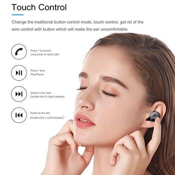 FLANG S9 CVC8.0 redukcja szumów prawdziwe słuchawki bezprzewodowe Bluetooth 5.0 słuchawki TWS IPX6 wodoodporny sportowy zestaw słuchawkowy słuchawki douszne