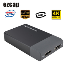 Ezcap 261M USB 3,0 HD Video Capture 4K 1080P Spiel Live Streaming Video Converter für XBOX One PS4 Unterstützung 4K Video Eingang MIC IN