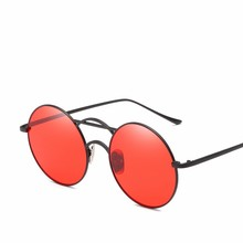 MYT_0205 Metallic Round Sunglasses Women and Men Retro Oculos Eyewear Brand Punk Eyeglasses Clear Lens Ocul