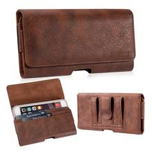 Phone Bag Pouch Case Belt Clip Cover Holster PU Leather Wallet  Universal 5.5 for iPhone Samsung Huawei LG3 LG4