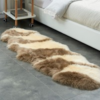 Luxury Hairy Carpets Natural Australian Fur SheepSkin Fluffy Pure Wool Carpet Bedroom Mats Washable Textile Area Rugs Home Decor