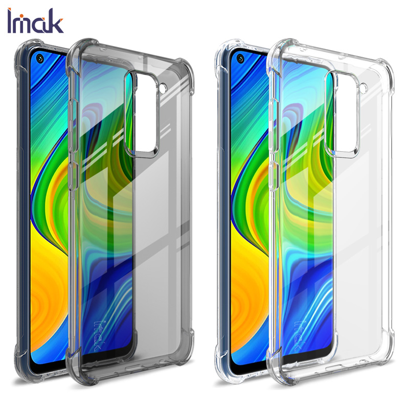 For Xiaomi Redmi Note 9 Case IMAK Fitted Case For Xiaomi Redmi Note 9 10X 5G Anti-dropping airbag protection Cover Soft TPU