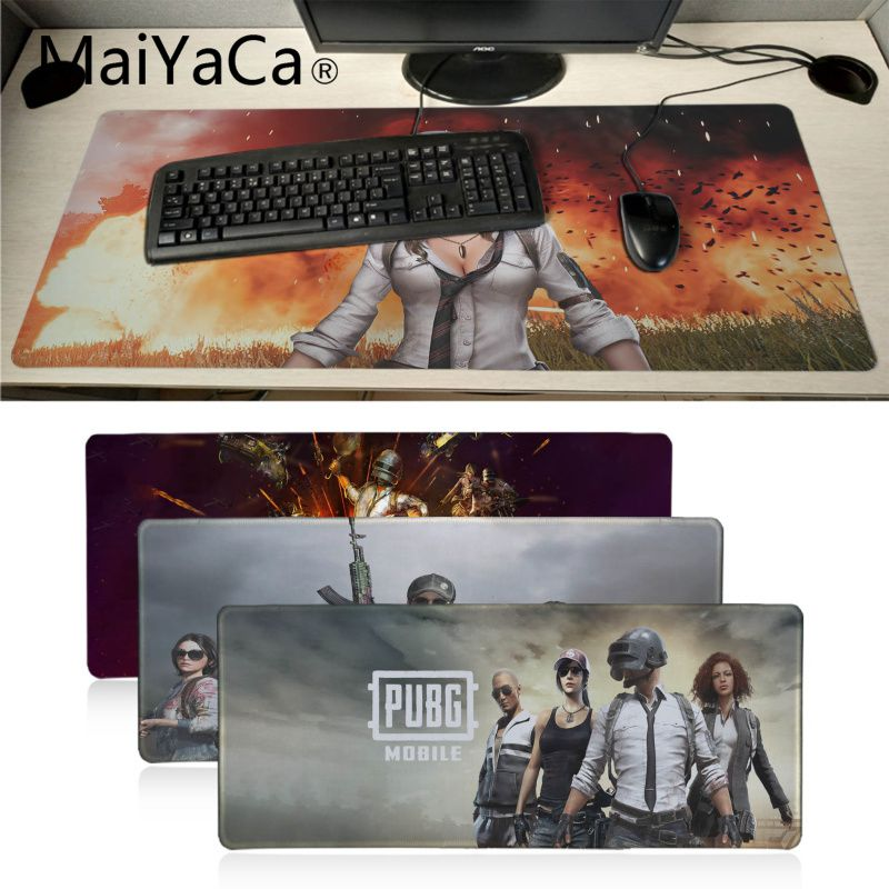 MaiYaCa Player Unknown's Battlegrounds Pubg Gaming Mousepads Table Keyboard Anime Mouse Pad Gamer Speed Version Laptop Desk Mat