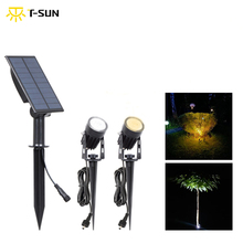 T SUN Led 6000K 3000K Solar Spotlights Waterproof Outdoor Solar Auto On/Off Solar Wandlampen Voor tuinverlichting Lampen