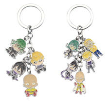 Fashion Anime One Punch Man Keychain  Zinc Alloy Key Chains Cartoon Keyring  Pendant Toys Keyholder Christmas Gift Jewelry