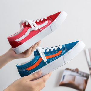 Women Men Shoes Red And Blue Canvas Shoes Women's Low-top Classic Wild Couple Board Shoes Men and Women Shoes Sneakers Women