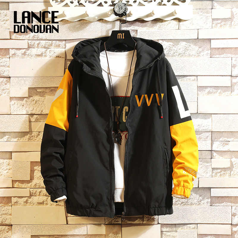 JANPAN 스타일 큰 주머니 패치 워크 2019 봄 가을 재킷 남자 Streetwear 폭격기 의류 플러스 아시아 크기 M-5XL
