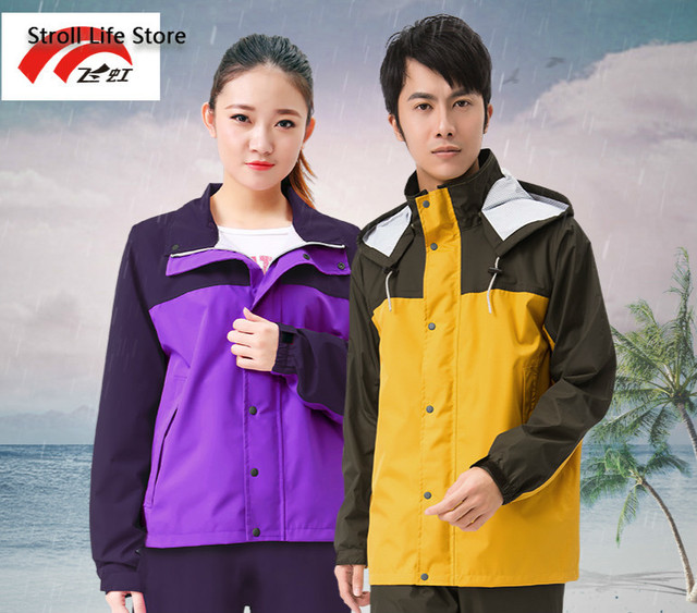 Double Thickened Raincoat Women Men Rain Pants Suit Waterproof Thin Summer Yellow Adult Motorcycle Raincoat Capa De Chuva Gift