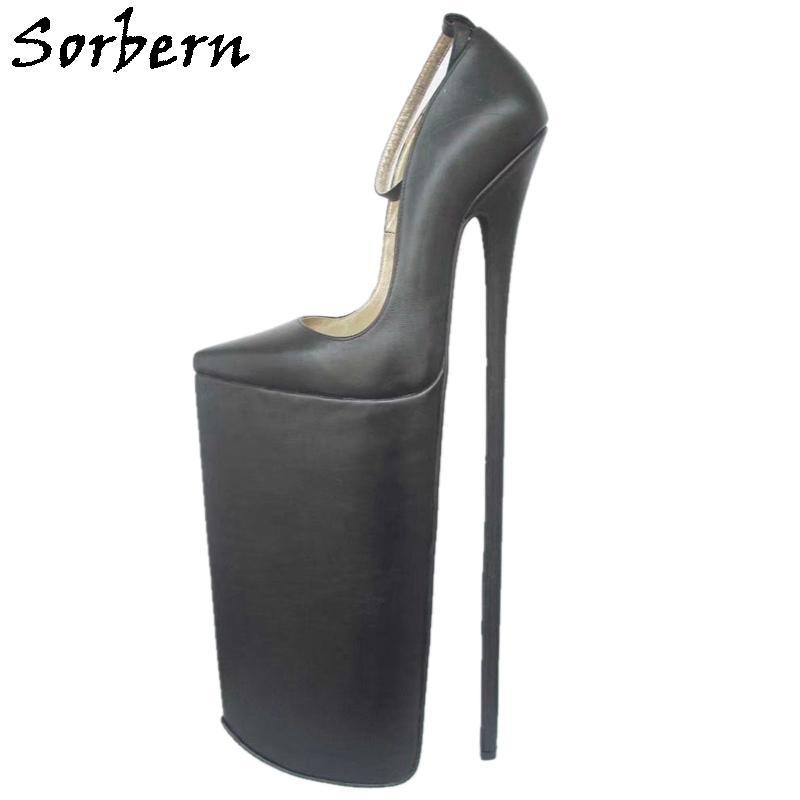 Туфли-лодочки женские на очень высоком каблуке 40 см, из натуральной кожи