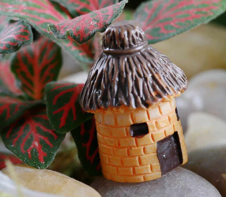 2019 Baru Mini Bulat Kartun Ekspresi Rumah Resin Dekorasi untuk Rumah dan Taman DIY Mini Kerajinan Cottage Lanskap Dekorasi