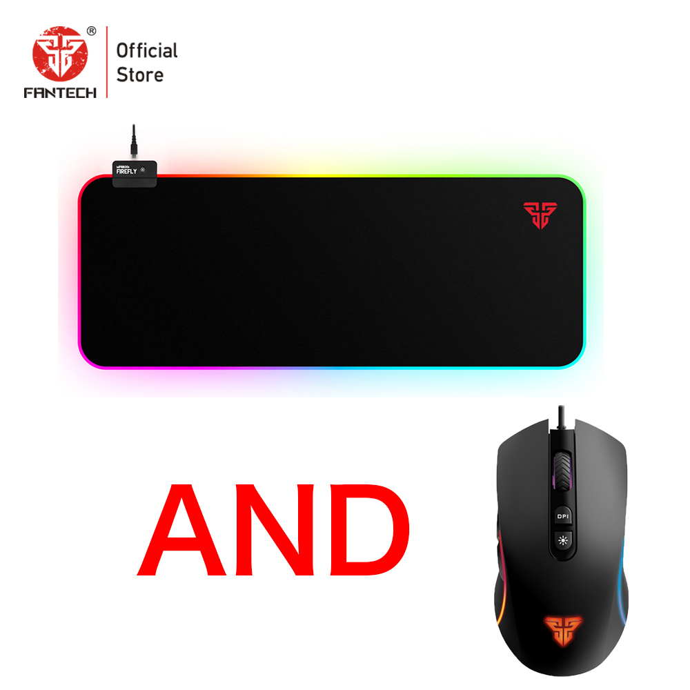 FANTECH X16 Gaming Mouse And MPR800S Game Mousepad PIXART 3519 4200DPI And 7Button Macro Game Mouse RGB <font><b>80</b></font> x 30 x0.3CM Mousepad image