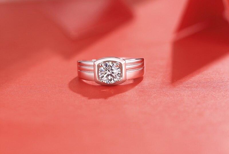 Yulaili dernière conception hommes anneau Simple atmosphère 1ct anneaux mode hommes anneau accessoires de mariage