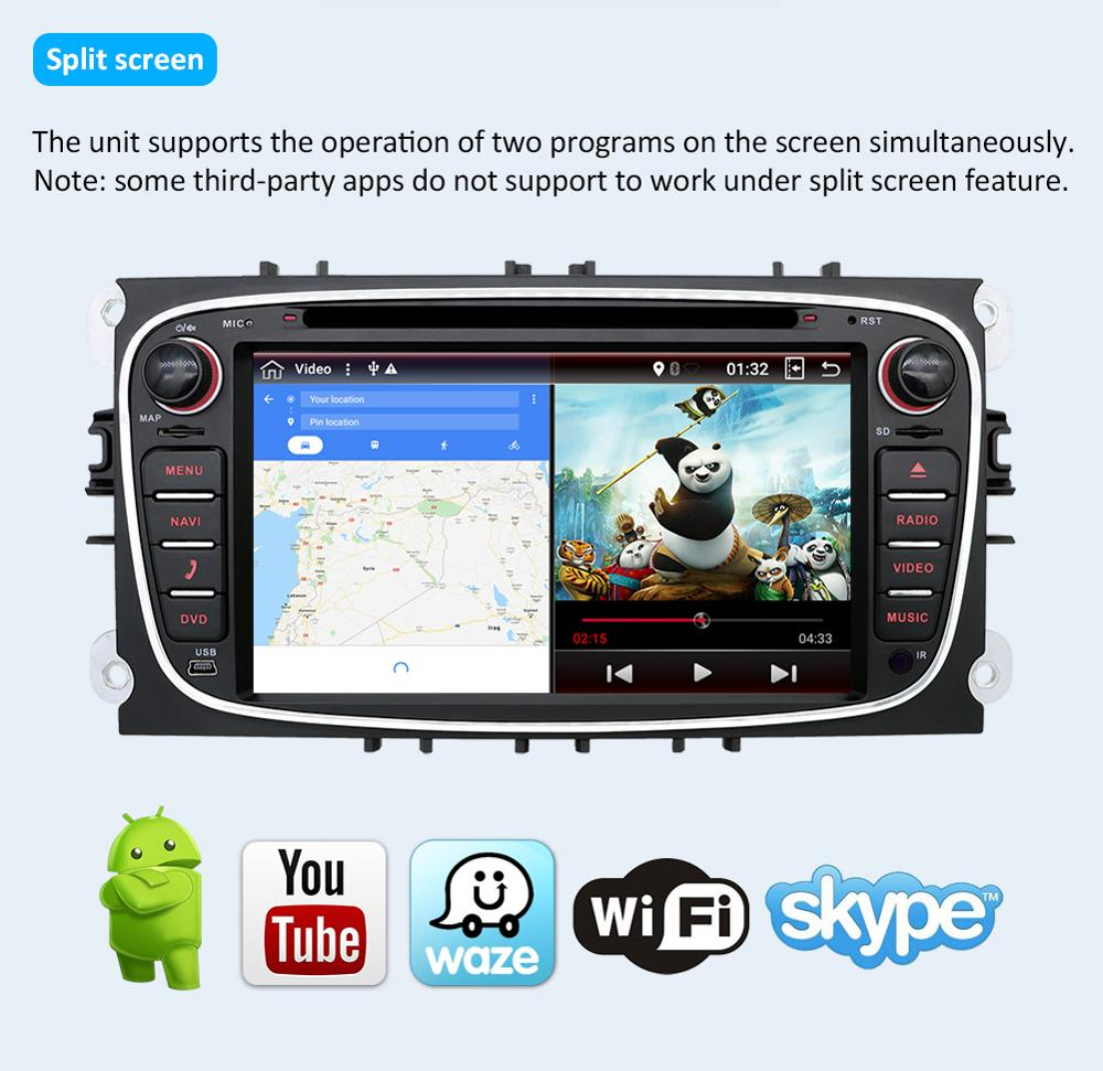 Podofo 9 дюймов автомагнитолы gps навигация Android 8,1 Mp5 мультимедийный плеер для Фольксваген Skoda Golf POLO PASSAT Jetta Tiguan - 5