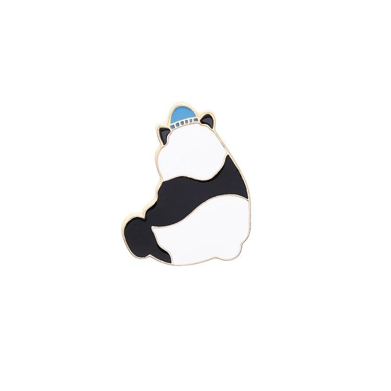 Булавка в виде животных из мультфильма голые медведи Милая гризли панда ледяной медведь джинсовые эмалированные булавки Kawaii нагрудные броши значки модные подарки - Окраска металла: XZ184