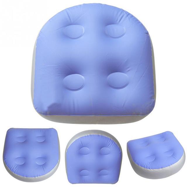 Alfombra de masaje de bañera inflable cojín de Spa suave almohadilla trasera bañera de hidromasaje almohada asiento de refuerzo para adultos Niños #