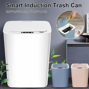 14L Home Intelligent Electric Garbage Automatic Intelligent Induction Trash Can Kitchen Bathroom Waste Bin Dropshipping