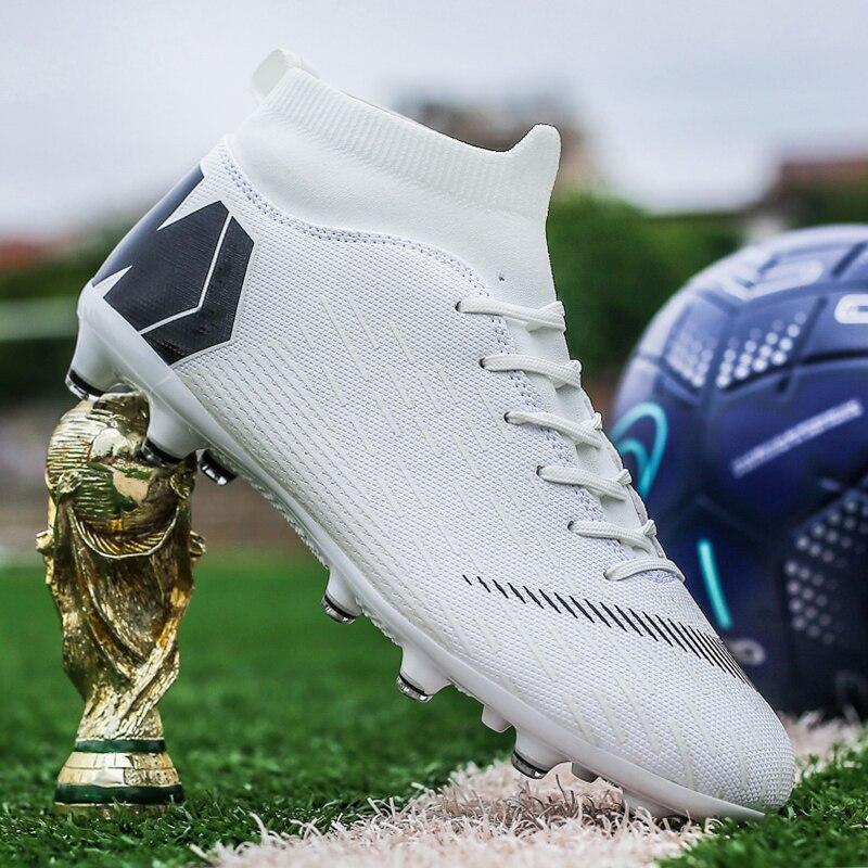Outdoor Football Boots Men Sneakers Soccer Boots Turf Football Boots Kids Soccer Cleats AG/FG Spikes Training Sport Futsal Shoes 6