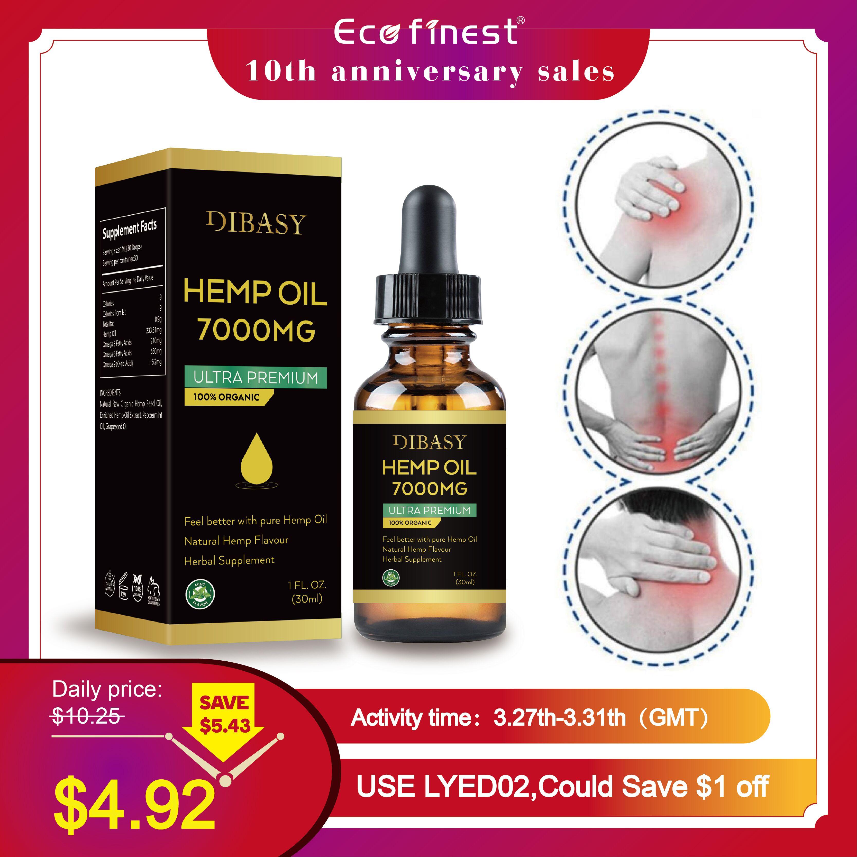 100% Natural Cbd 7000mg Essential Oil Aid Organic Hemp Seed Extract Hemp Oil Bio-active Drop Pain Relief Reduce Sleep Anxiety