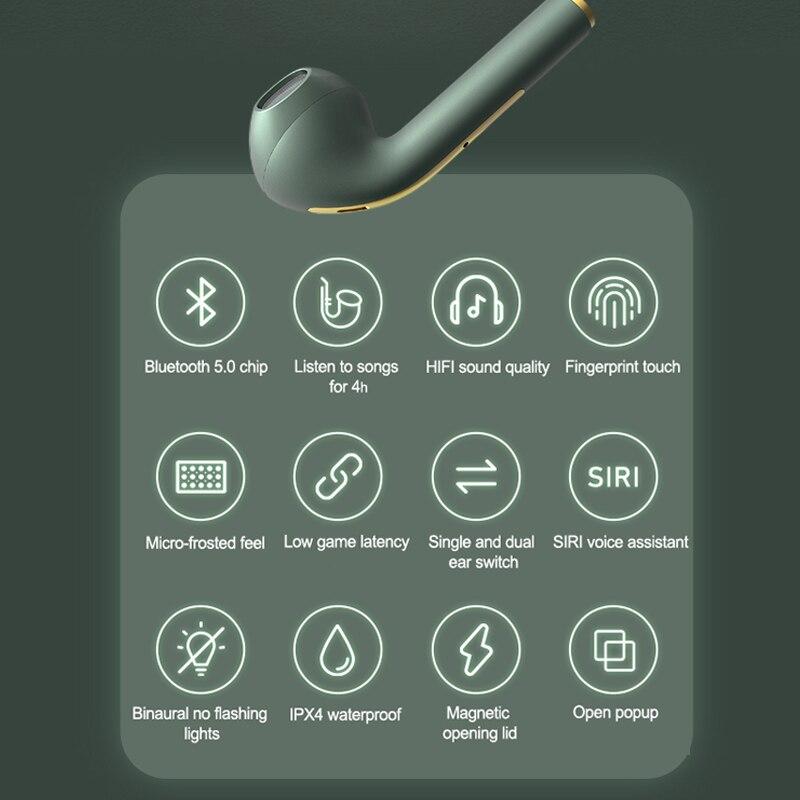 New TWS Bluetooth Headphones Stereo True Wireless Headphone Earbuds In Ear Handsfree Earphones Ear Buds For Mobile Phone 6