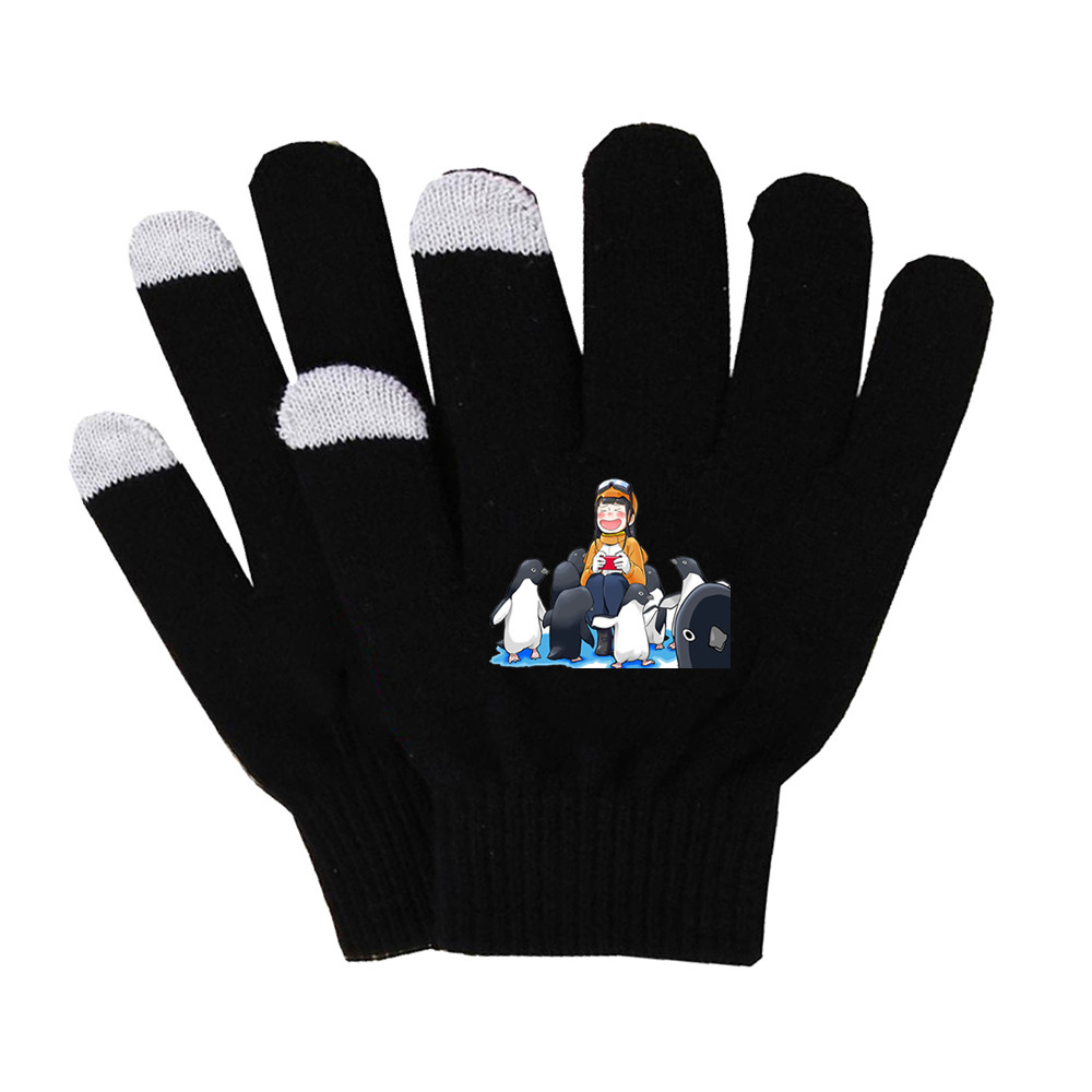 Anime A Place Further Than The Universe Gloves Unisex Finger Cotton Warm Gloves Non-slip Touch Screen Gloves Finger Gloves