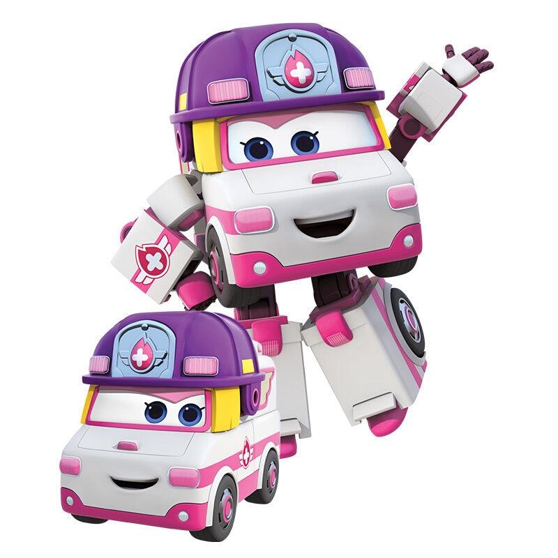 Большой! 15 см ABS Супер Крылья деформация самолет робот фигурки Супер крыло Трансформация игрушки для детей подарок Brinquedos - Цвет: No Box Zoey