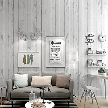 Vintage White Striped Wood Wallpaper Roll Retro Wall Paper Living Room Cafe Restaurant Barbershop Tv Background Decor 10m paysota vintage wood grain grey wallpaper bedroom living room sofa background wall paper roll