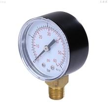 0-4bar 0-60psi sprężarka hydrauliczna miernik ciśnienia powietrza na różne paliwa oleju wysokiej wakuometr 1 4 #8222 NPT mocowanie boczne tanie i dobre opinie OOTDTY DIGITAL C63E7HH401882
