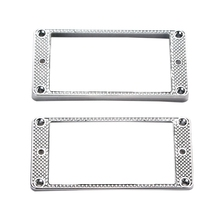 2Pcs Humbucker Pickup Ring Metal Curved Bottom Frame for LP PRS Guitar Parts 2pcs hot dual rail metal double track blade pickup neck rail humbucker for electric guitar parts