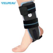VELPEAU Ankle Brace Adjustable Rigid Stabilizer for Sprains Tendonitis Post-Op Cast Support and Injury Protection with Gel Pad
