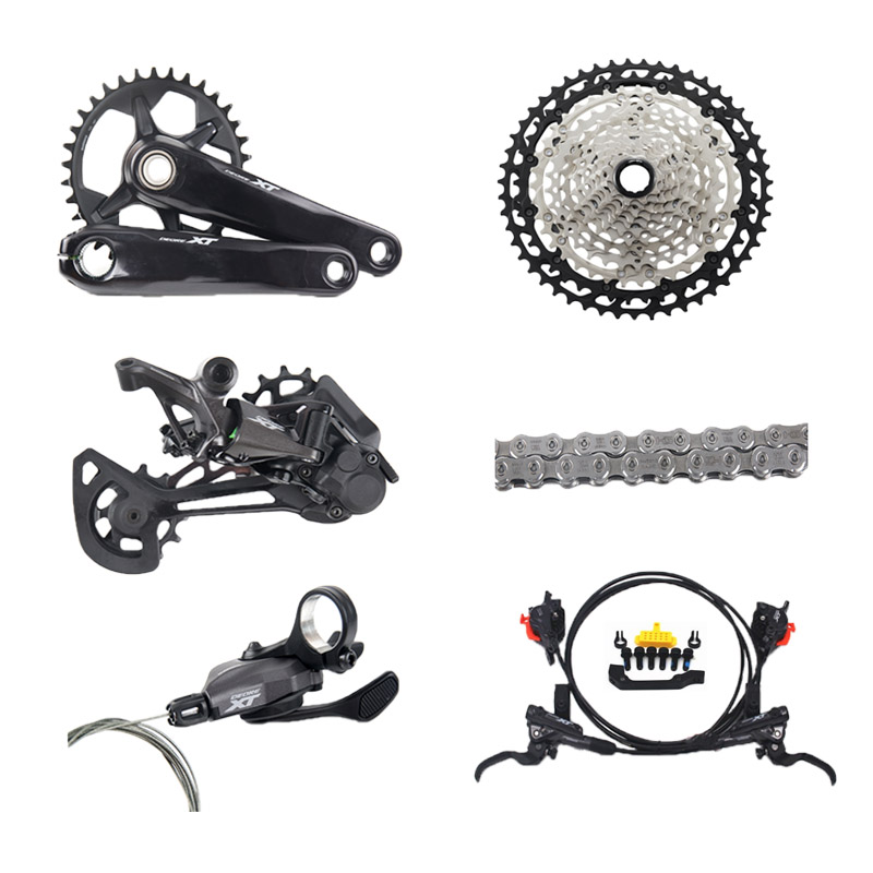 Shiman DEORE <font><b>XT</b></font> <font><b>M8100</b></font> MTB Bicycle <font><b>12</b></font>-Speed Kit 32T 34T 170mm 175mm 10-46T 10-51T image