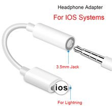For IOS Systems Headphone Adapter For iPhone 7 8 X XR XS Adapter For Lightning Female To 3.5mm AUX Audio Adapte Cable Converter цены онлайн